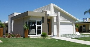 Exterior of a modern single level home.