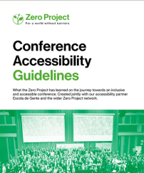 Front cover of Zero Conference Accessibility Guidelines.