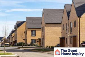 A row of brick houses in UK. From Good Home Inquiry.