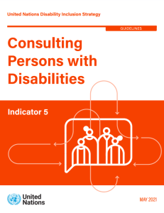 Front cover Consulting with persons with disabilities.