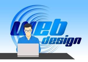 Graphic indicating web design.