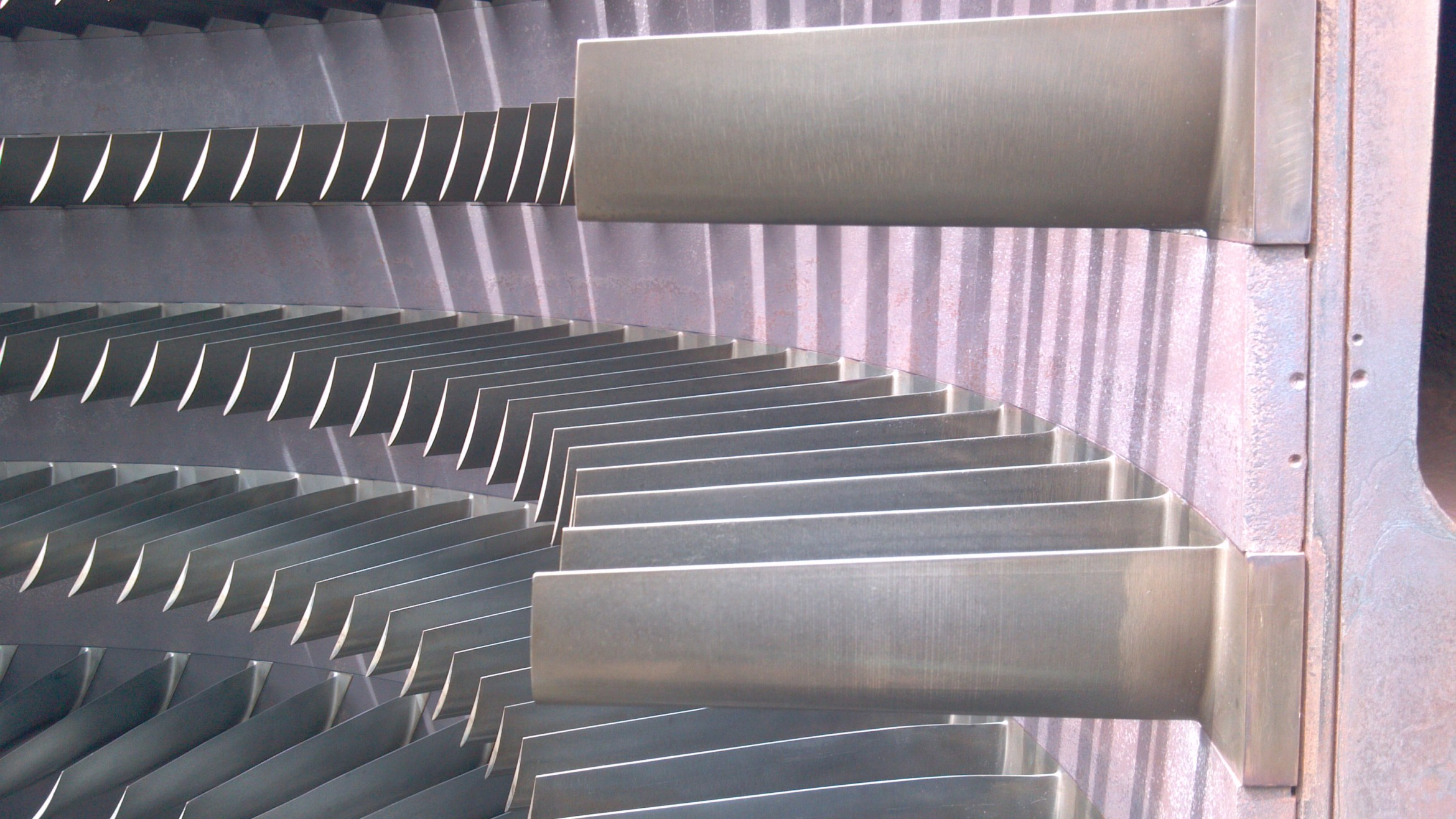 Co2 Blasting Turbine Case and Blades