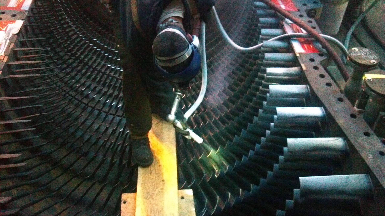 Dry Ice Blasting Lower Turbine Case