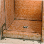 schluter system shower & structural wall removal