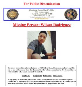 Autoridades buscan a un adolescente que está desaparecido desde hace dos semanas
