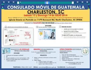 Consulado Móvil de Guatemala visita North Charleston el 13 y 14 de Julio
