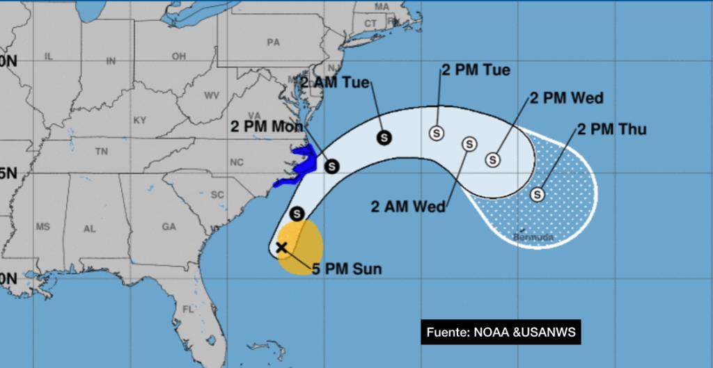 Tormenta Tropical Arthur pasa cerca de la Costa Este de EE. UU. y se sigue moviendo hacia el noreste