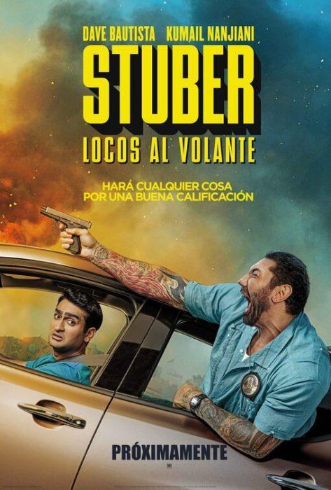 Due poster da Stuber, l'action comedy con Dave Bautista