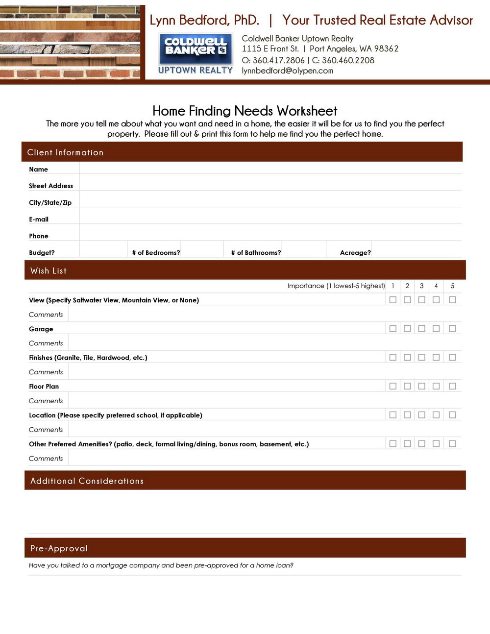 Conventional To Fha Refinance Worksheet