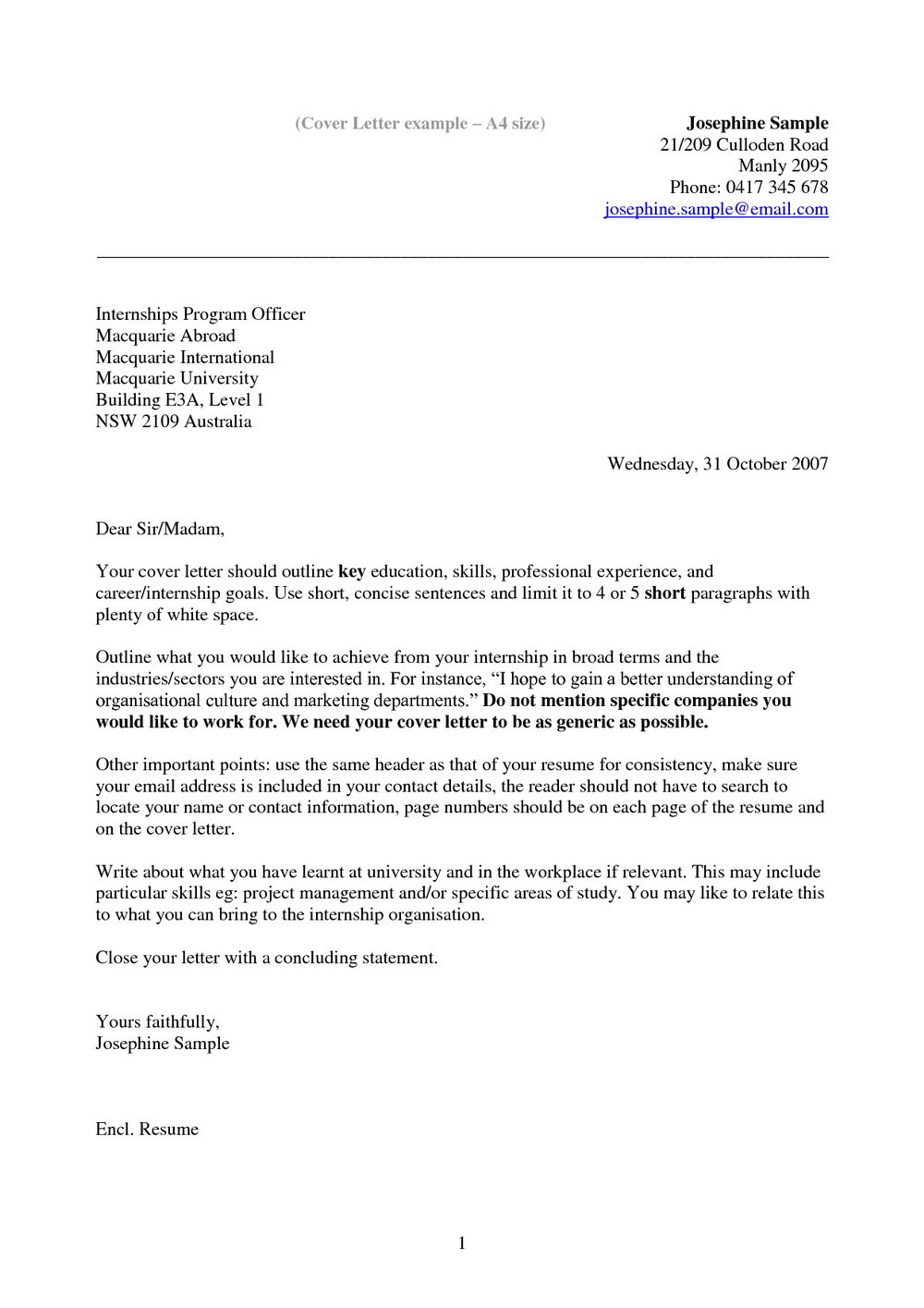 Cover Letter Samples For Resumes Free