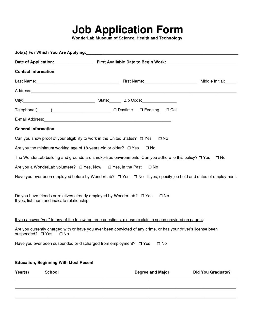 Dollar General Application Form Online