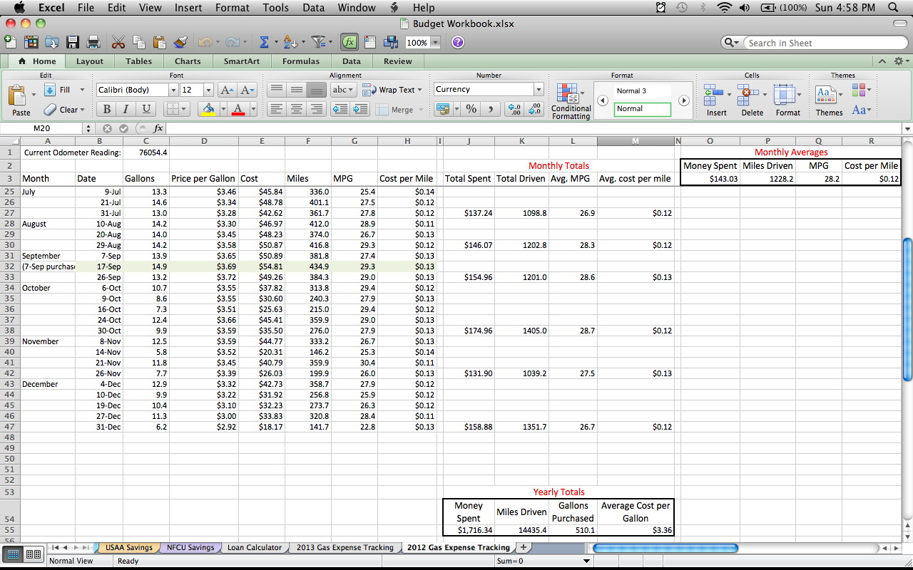 Expense Tracking Worksheet Excel
