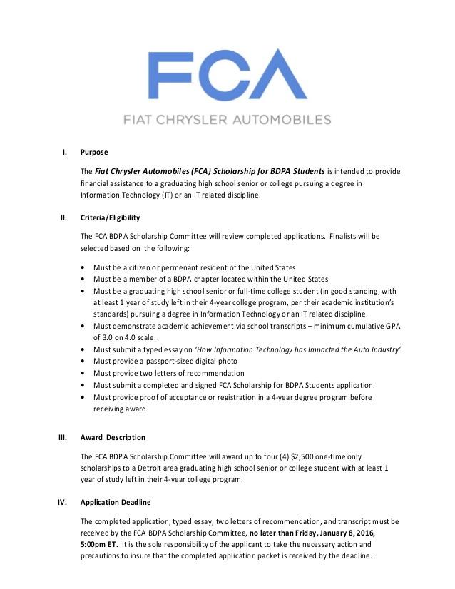 Fiat Chrysler Canada Job Application