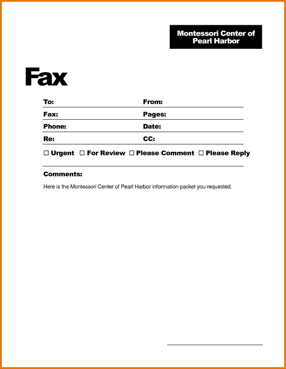 Free Blank Fax Cover Letter
