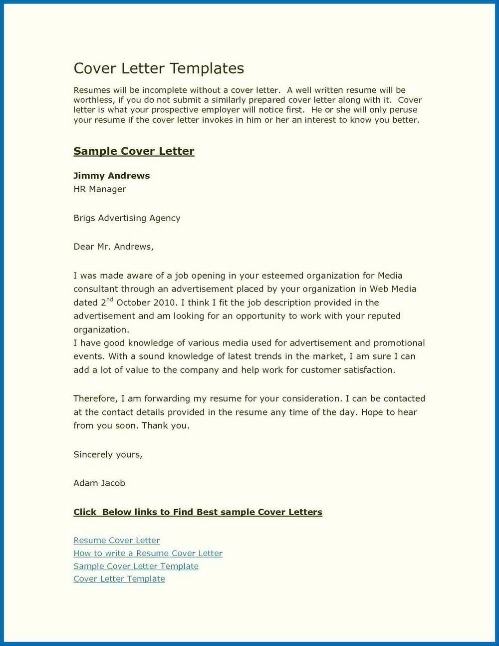 Free Cover Letter Builder Uk