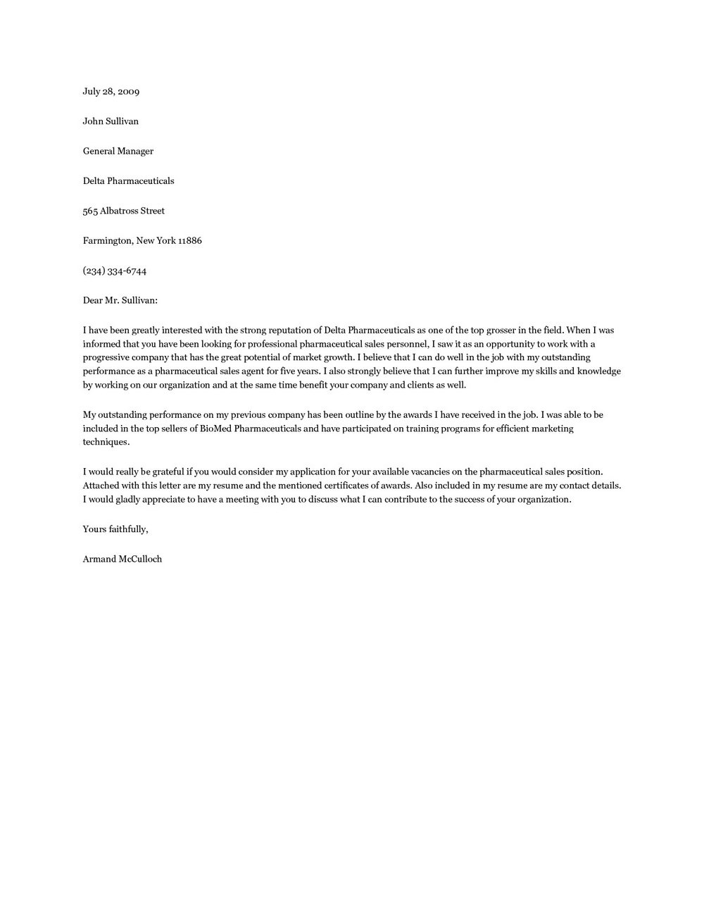 Free Cover Letter Samples For Accounting Jobs
