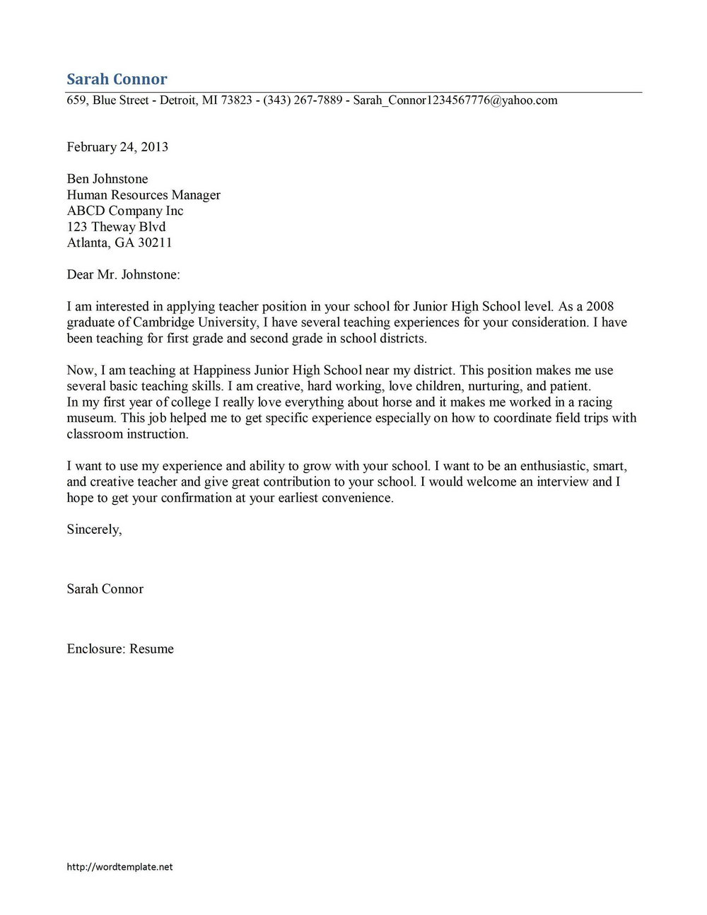 Free Cover Letter Samples For Office Assistant