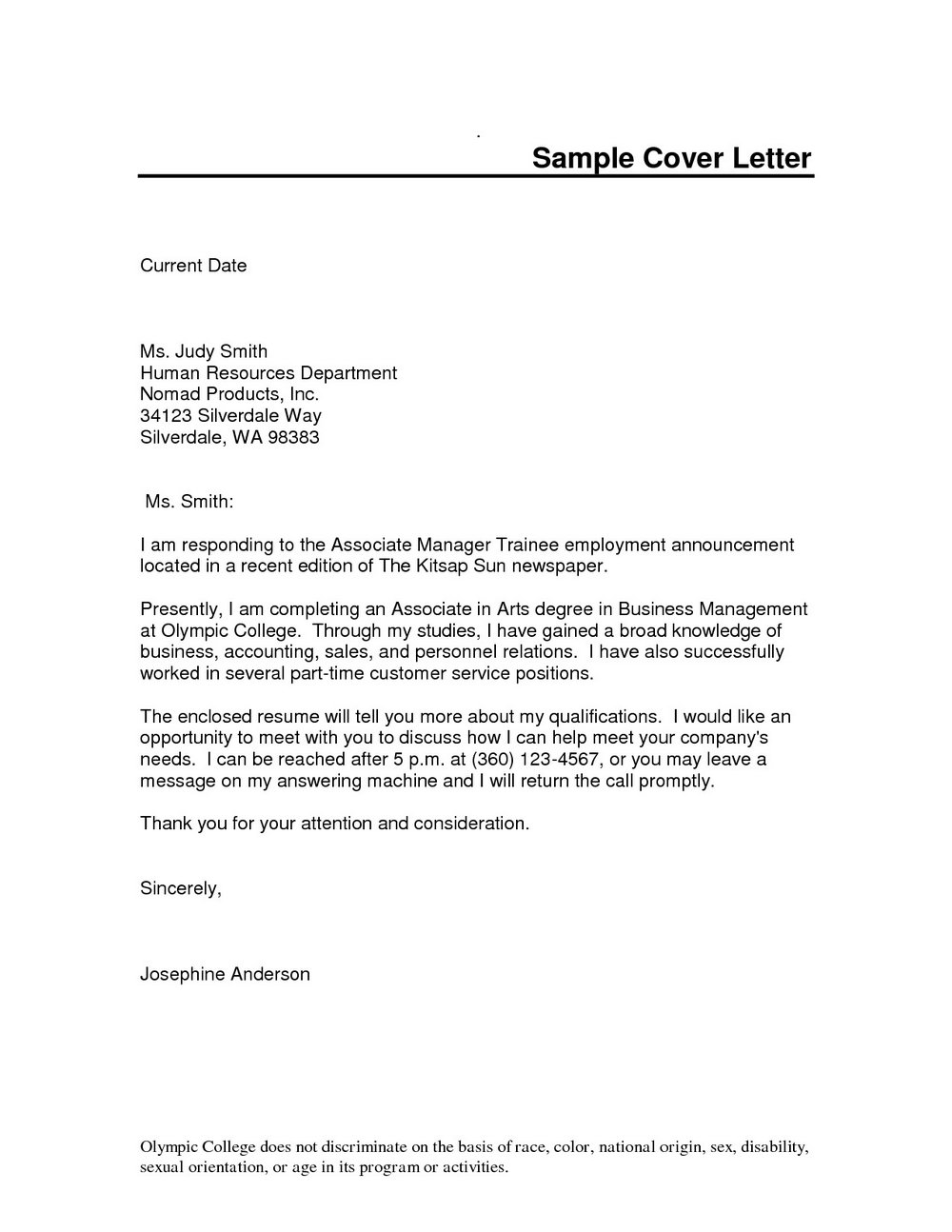 Free Cover Letter Templates Word 2010
