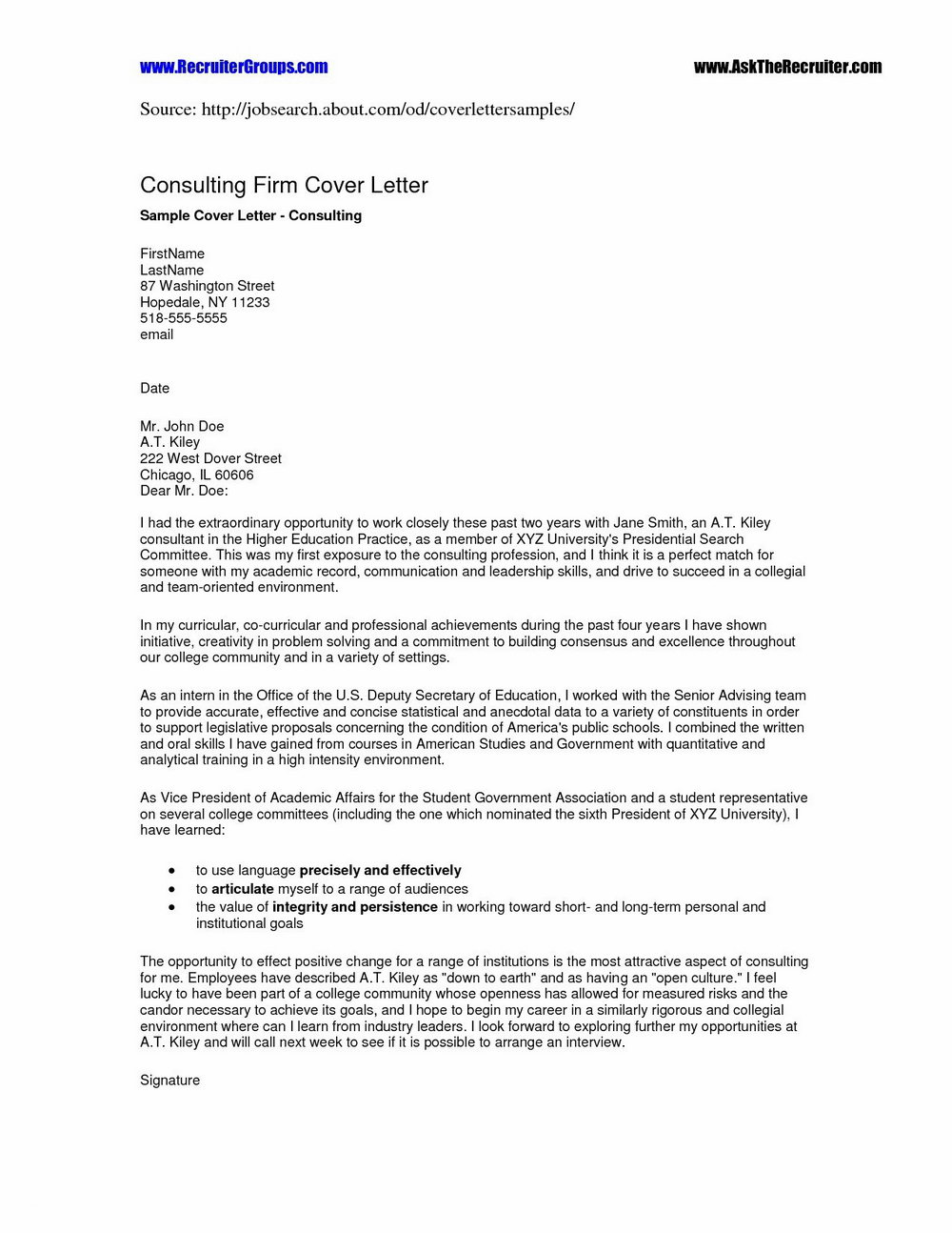Free Modern Cover Letter Template Word