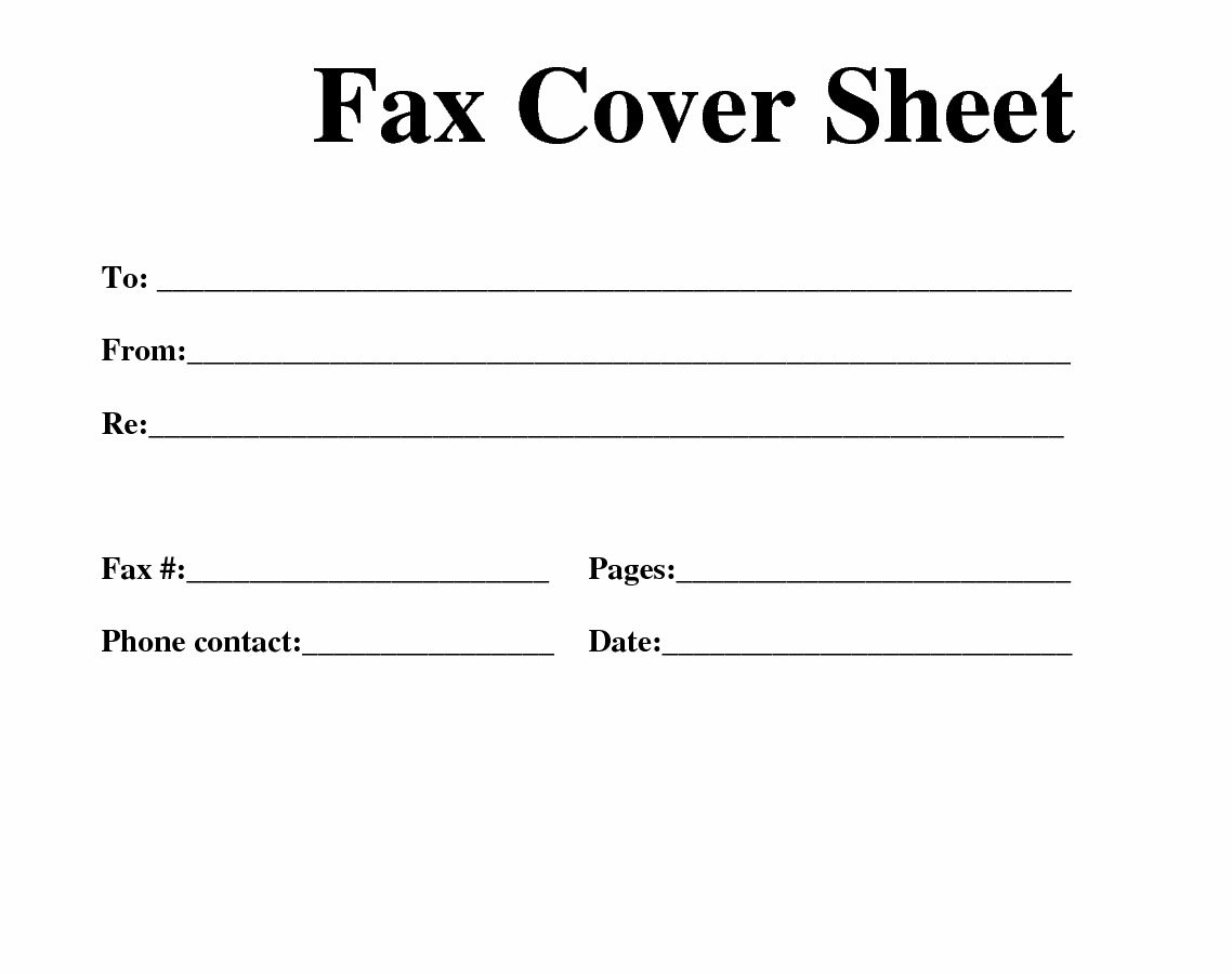 Free Printable Business Fax Cover Sheet