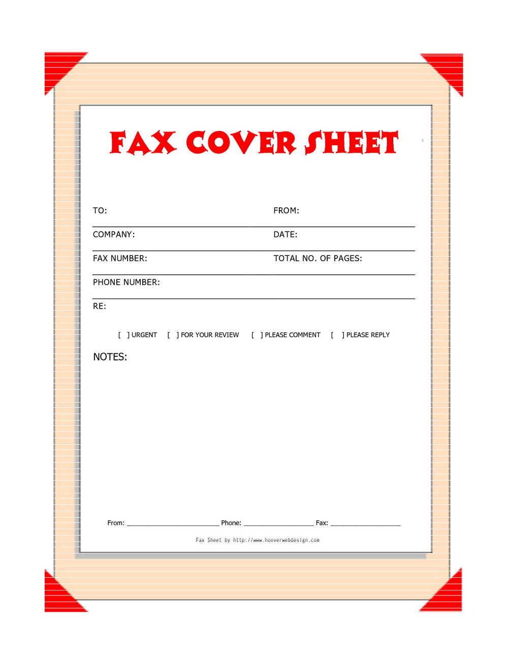 Free Printable Fax Cover Sheet Confidential