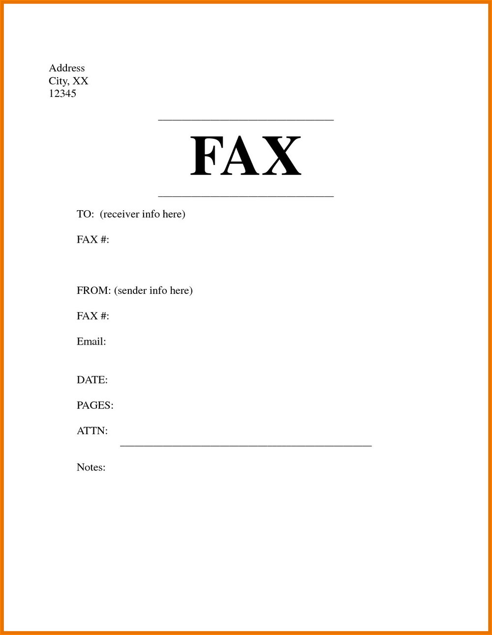 Free Printable Fax Cover Sheet Forms