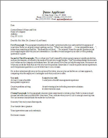 Free Templates For Resumes And Cover Letters