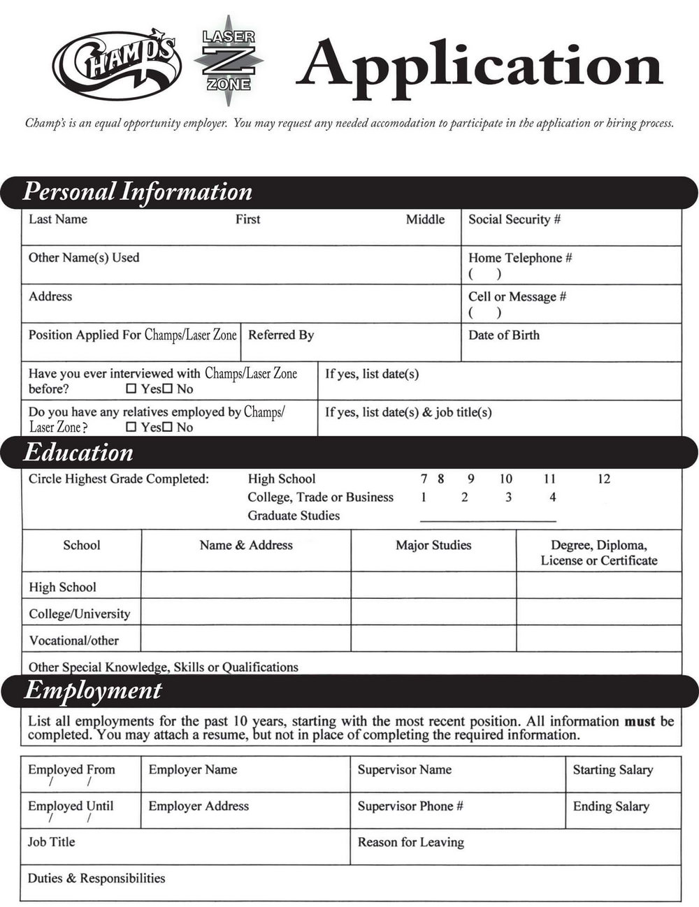 Kfc Job Application Form Canada