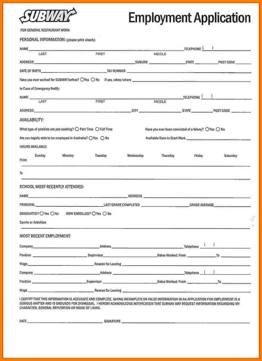 Kfc Job Application Form Online Australia