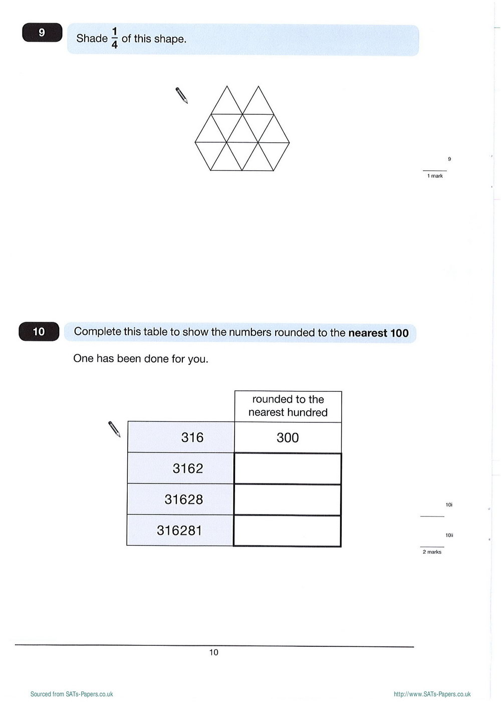 Printable Maths Worksheets Ks2