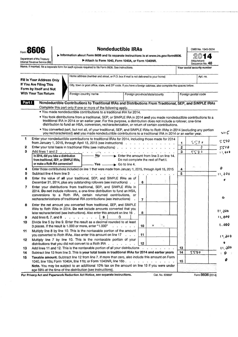 Roth Ira Contribution Worksheet 2016