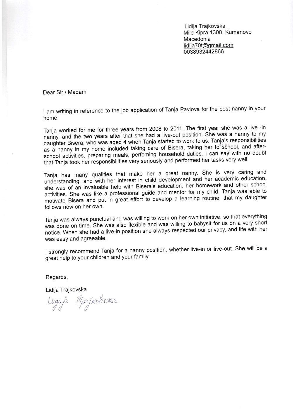 Sample Cover Letter For A Caregiver Position