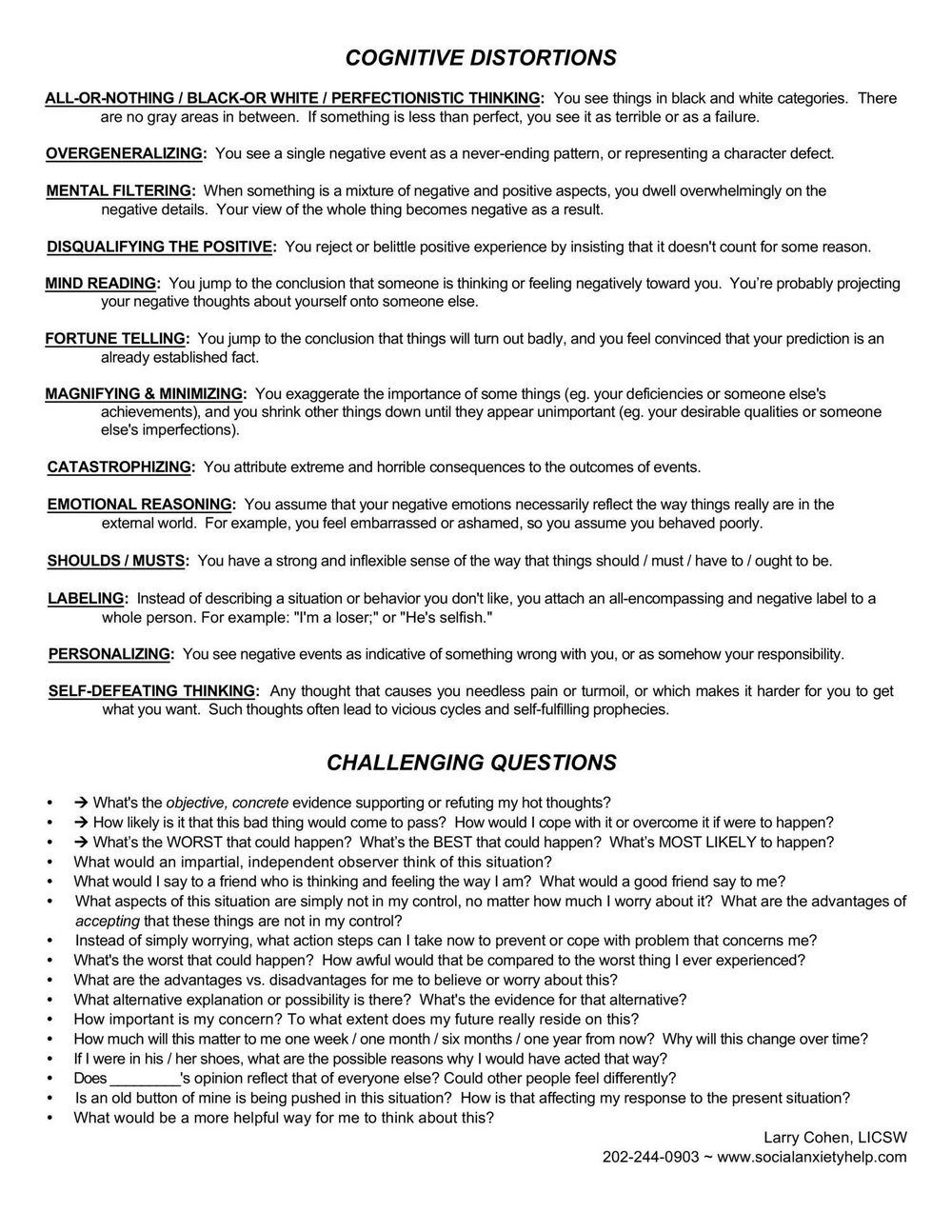 Substance Abuse Recovery Worksheet