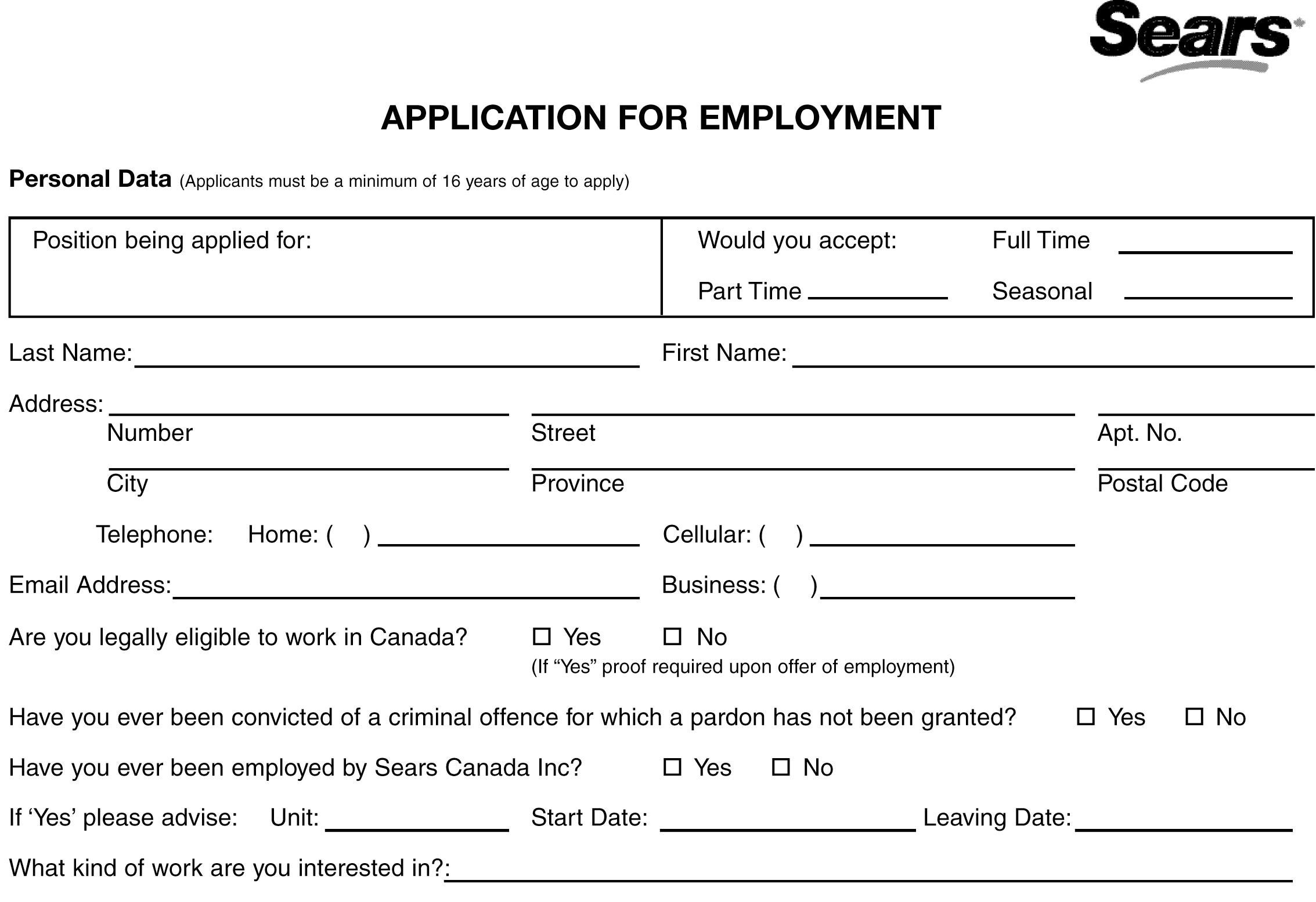 Walmart Cashier Job Application