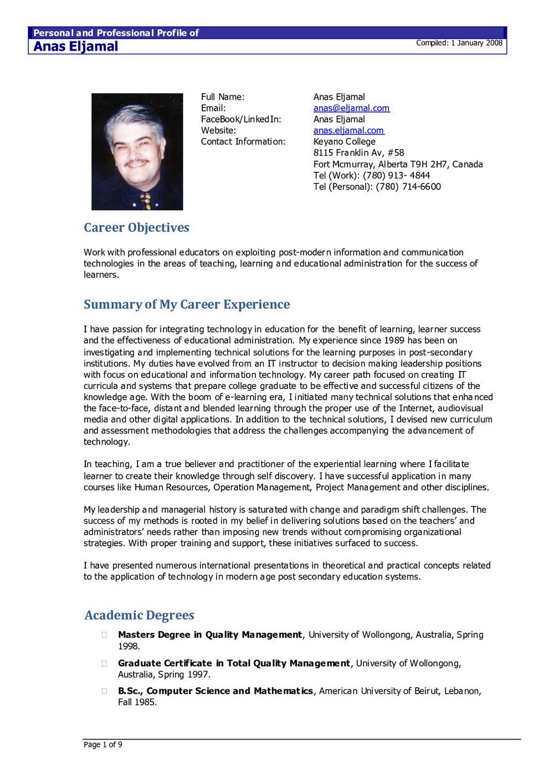 Best Resume Format Download Doc