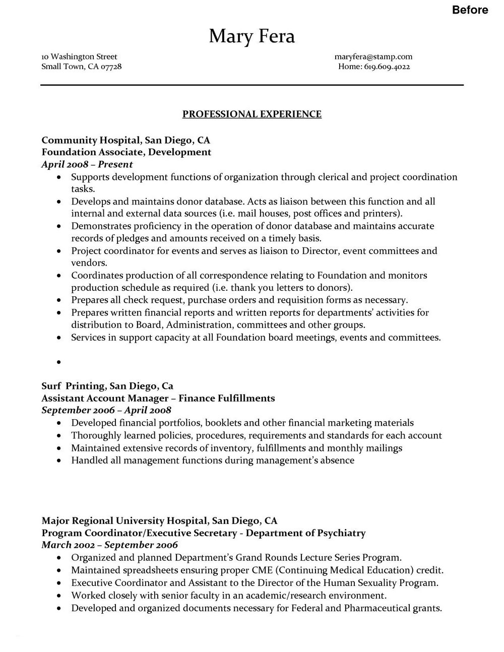 Competitive Edge Resume Service San Diego Ca