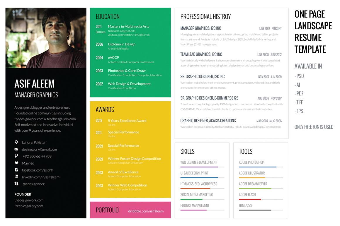 Creative Professional Resume Maker Online Free