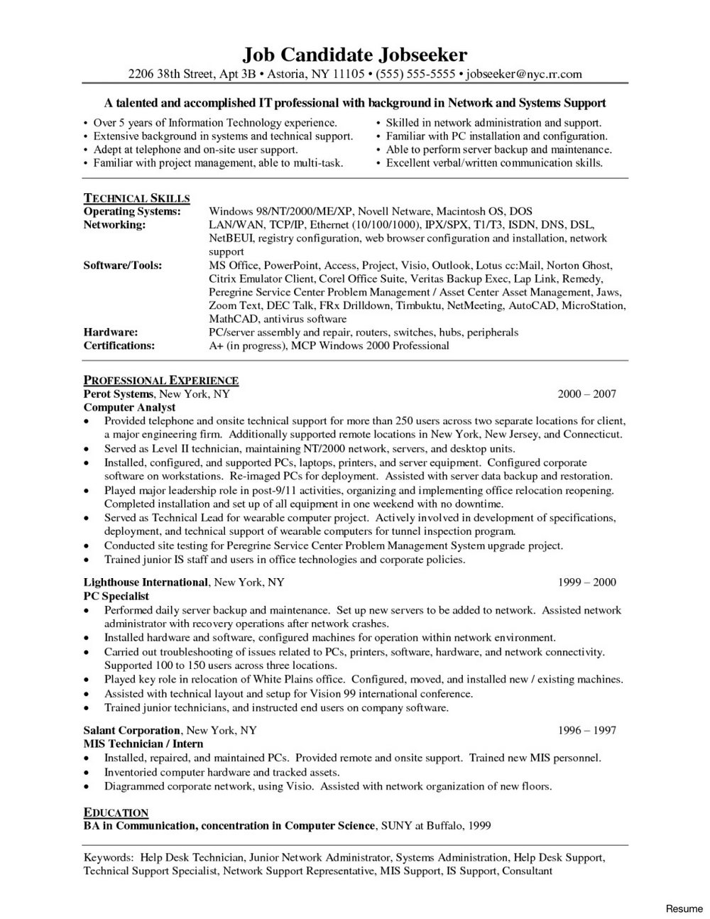 Entry Level Surgical Tech Resume Sample