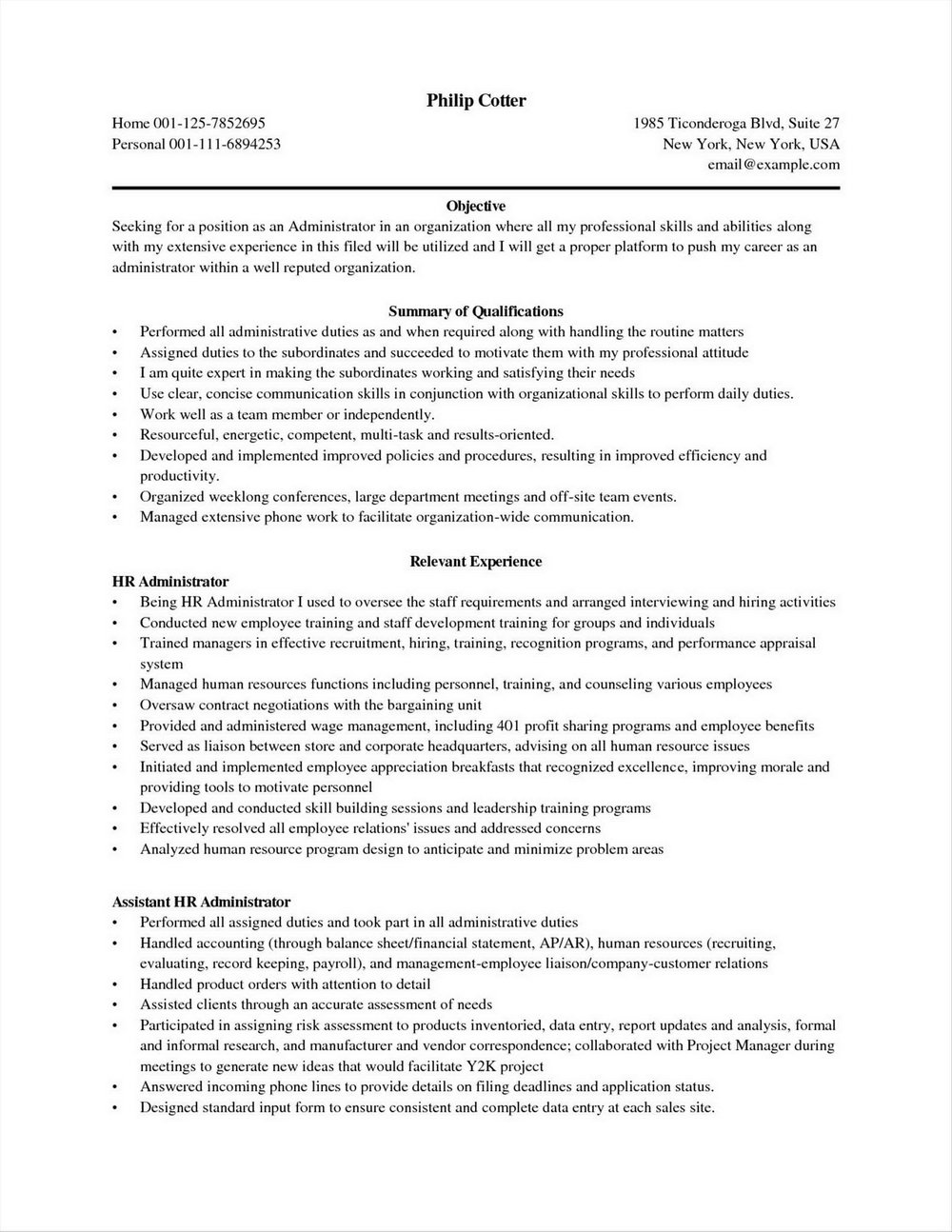Free Executive Assistant Resume