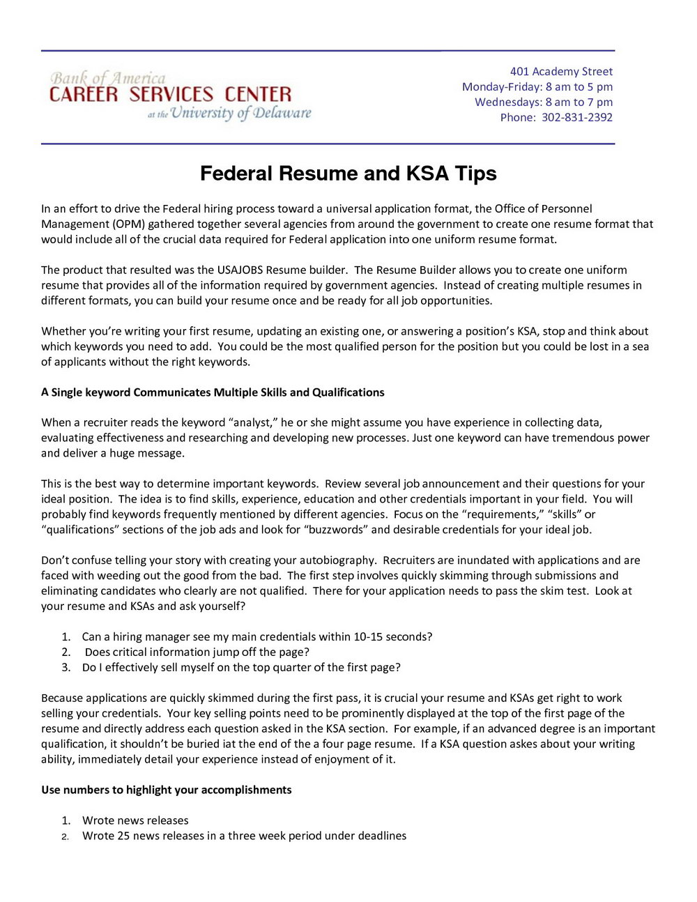Free Federal Government Resume Builder