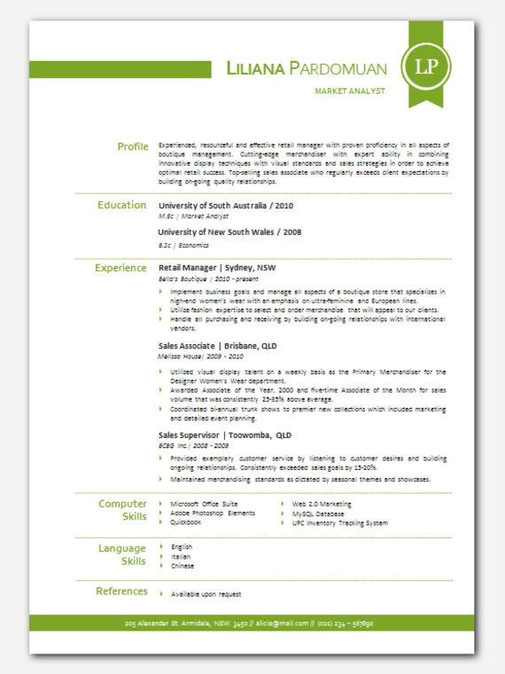 Free Microsoft Word Resume Templates Modern