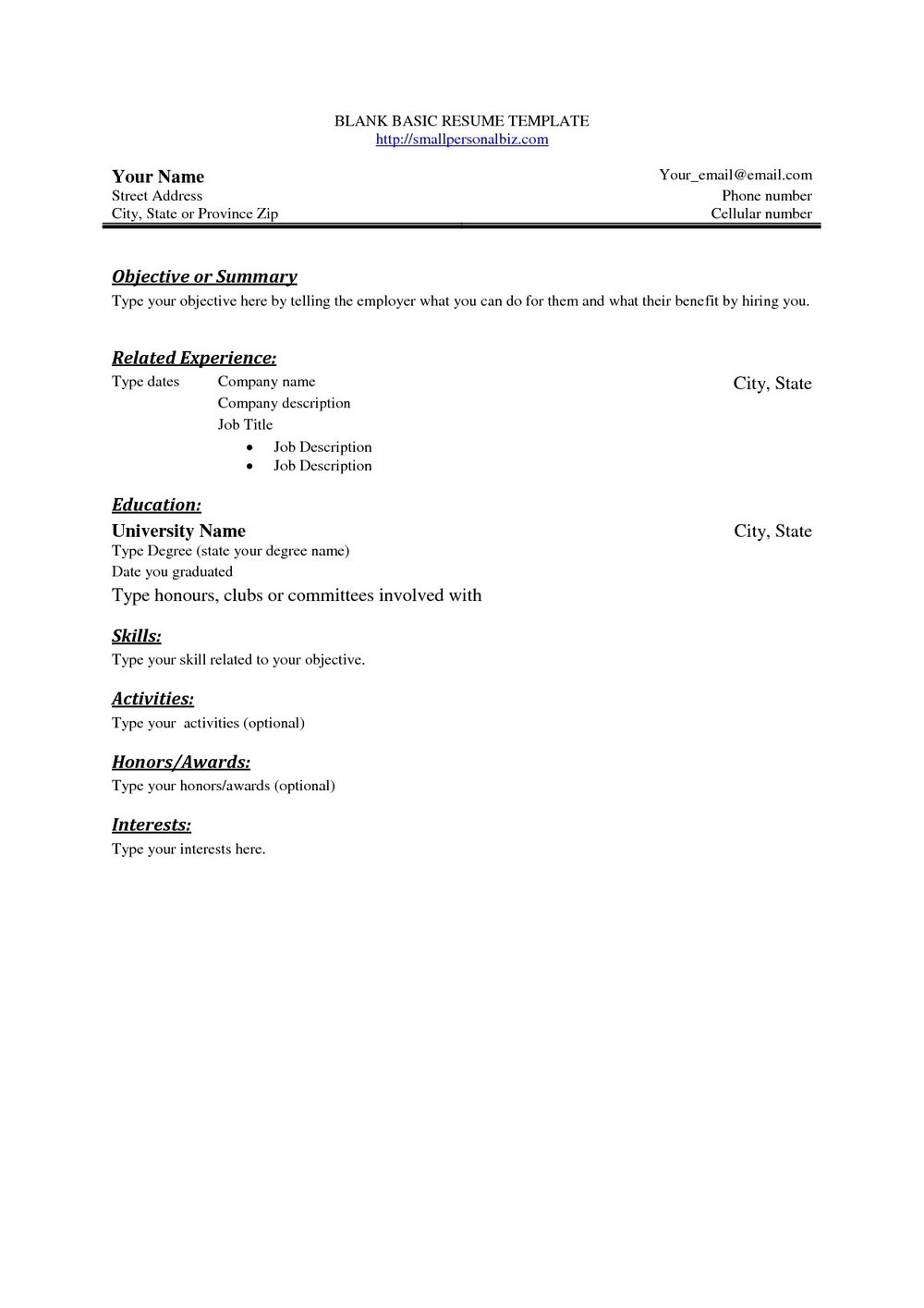 Free Online College Resume Builder
