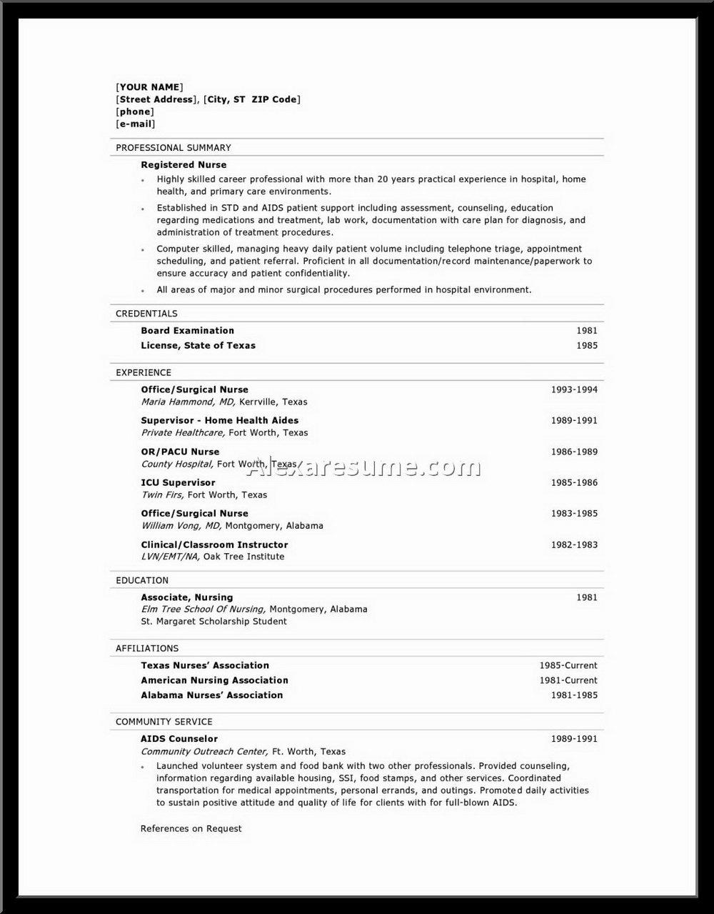 Free Online Resume Builder For Freshers