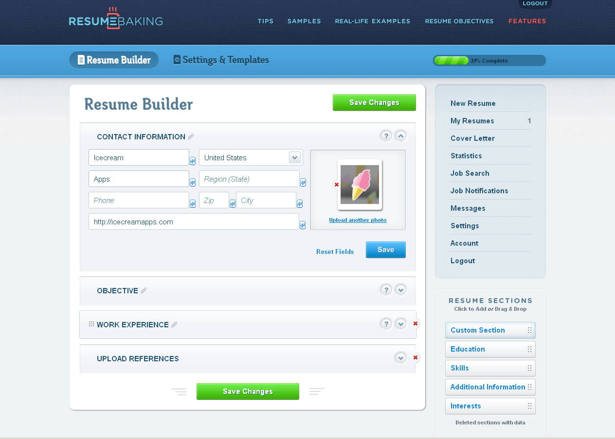 Free Online Resume Builder With Photo