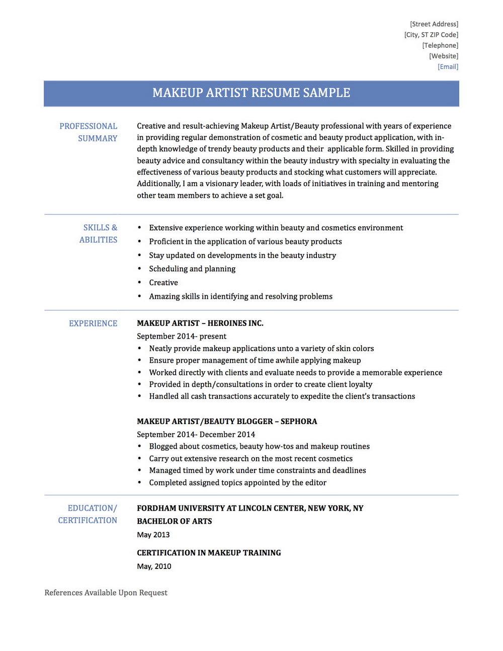 Free Resume Builder For Macbook