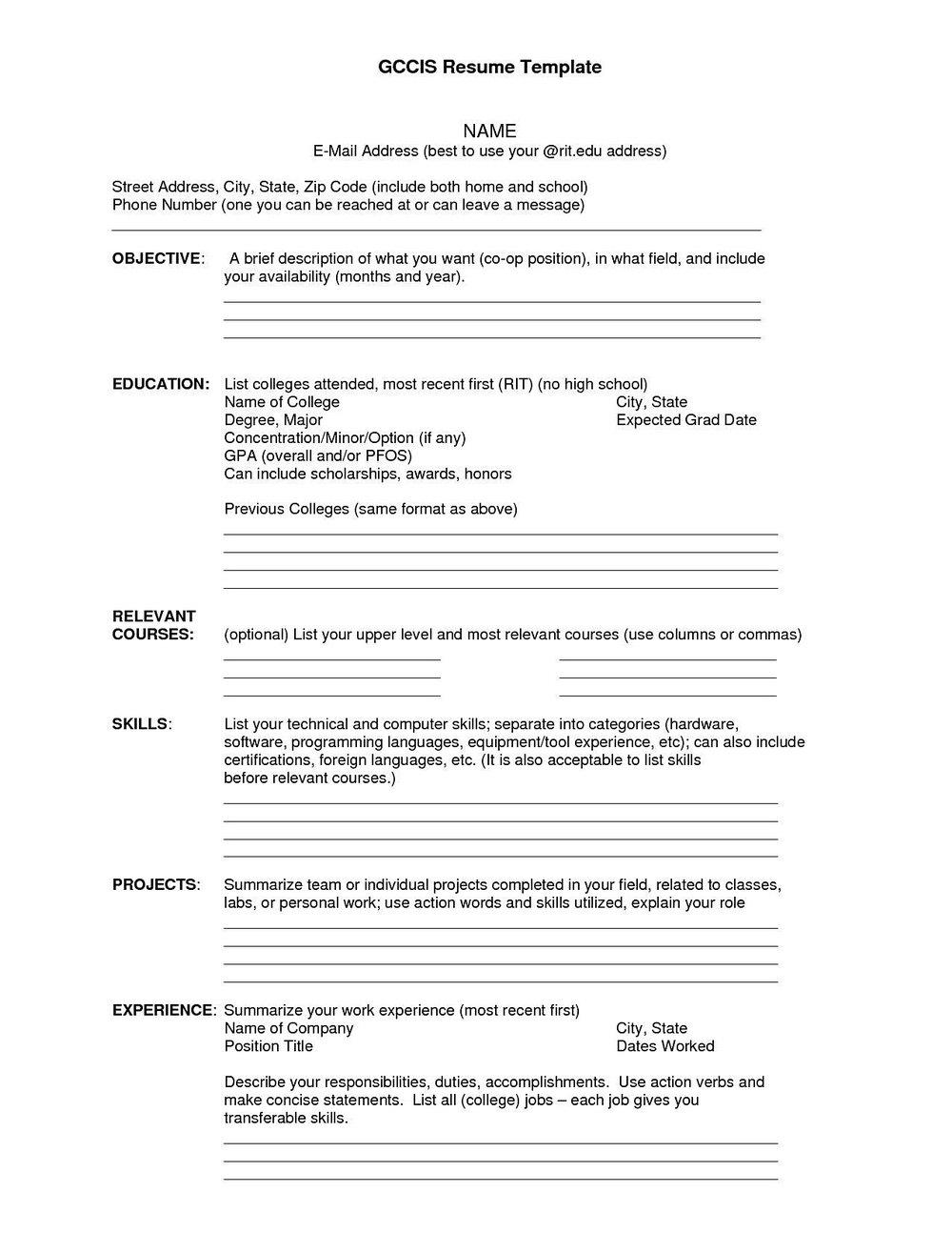 Free Resume Creator Pdf