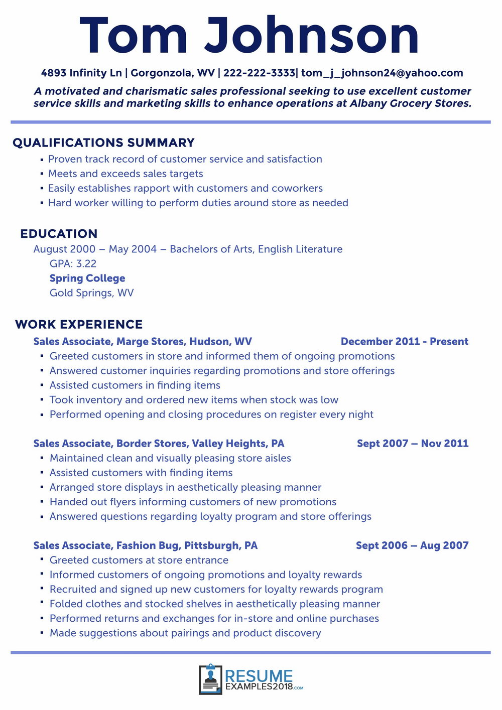 Free Resume Template Download Word 2018