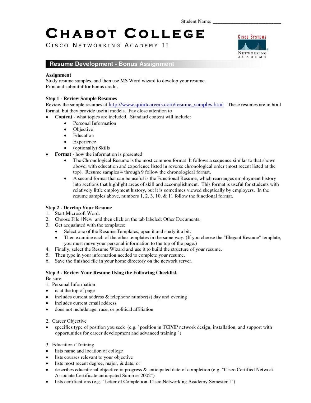 Free Resume Template Macbook