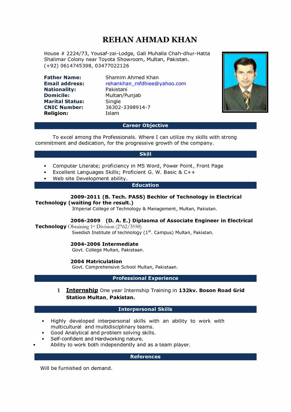 Free Resume Templates Download For Windows 7