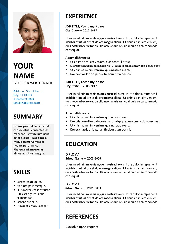 Free Resume Templates Microsoft Office Word 2007